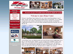 Ames Home Center Website Thumbnail